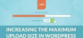 Как увеличить максимальный размер загружаемого файла в WordPress